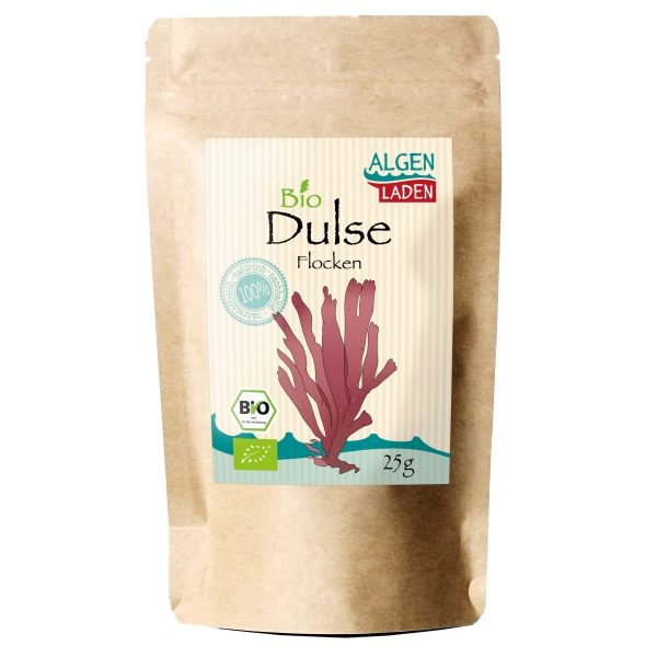 Dulse Flakes 600x600 - ALGENLADEN BIO Dulse Flakes - 25g