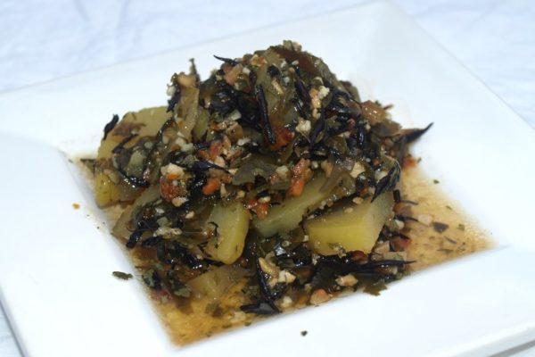 Pellkartoffelsalat mit Hijiki und Wakame