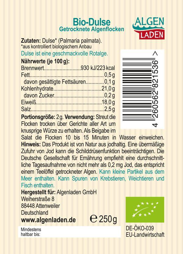 Bio Dulse Flakes 250g Etikett